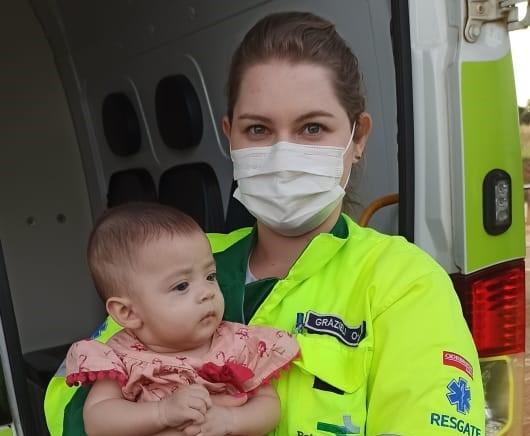 BR 163: socorristas salvam bebê, de cinco meses, que estava engasgado