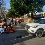 Sorriso: duas pessoas ficam feridas em acidente entre carro e moto