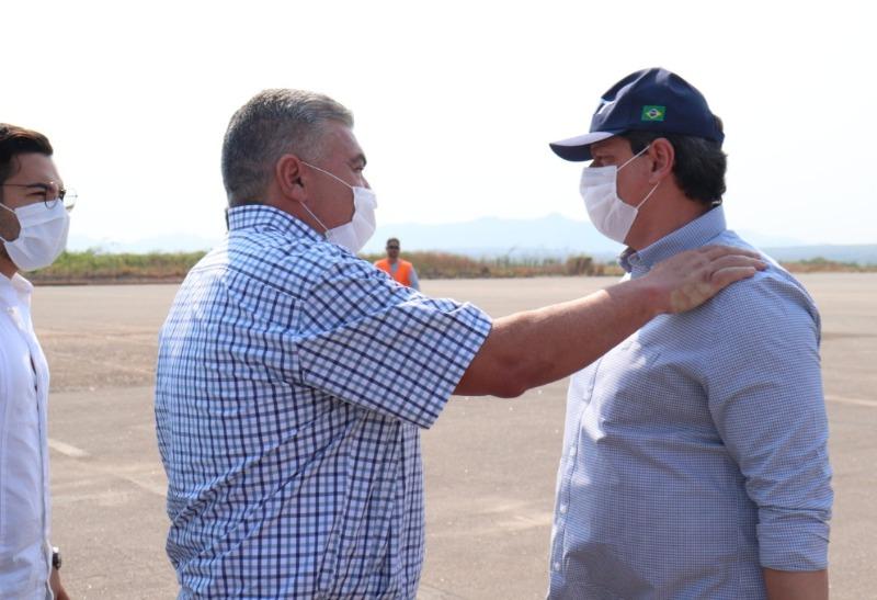 Ministro Tarcísio de Freitas visita obras em Mato Grosso